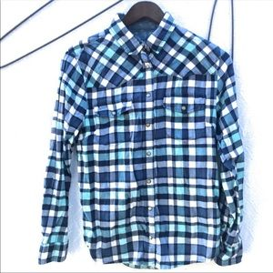 Jachs Girlfriend Flannel Shirt With Snaps